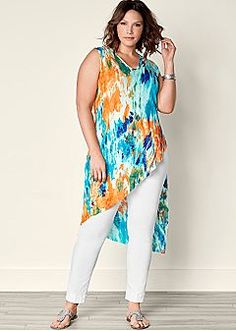 Ribbed Tie Dye Tunic Tops: Women's Blouses, Shirts & Tunics – VENUS