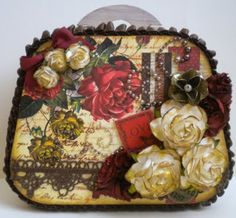 Beautiful altered wooden box