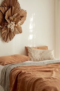 Sandalwood pure French linen bedding is a rich blend of soft brown caramel tones with a hint of apricot. Transform your room with this exclusive shade. Neutral Bedroom Decor, Home Bedroom, Bedrooms, New Room, Room Inspiration, Decoration, Interior Design, Inspired, Earth Tone Bedroom