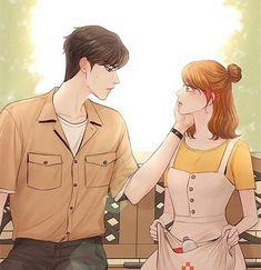 Cute Couple Art, Anime Love Couple, Couple Cartoon, Anime Couples, Cute Couples, Manhwa, Descendents Of The Sun, Usui, Graffiti Lettering