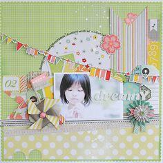 Michiko Kato Amecican Crafts products is Dear Lizzy Neapolitan Kids Scrapbook, Scrapbook Designs, Scrapbook Page Layouts, Scrapbook Albums, Scrapbook Cards, Paper Art, Paper Crafts, Photo Layouts, American Crafts