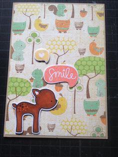 """""""smile"""" Karte für jede Gelegenheit #lawnfawn #winkofstella"""