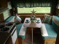 vintage canned ham trailer - interior