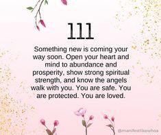 Angel Number Meanings, Angel Numbers, Spiritual Manifestation, Spiritual Awakening, Angels In Heaven, Heavenly Angels, Angel 111, 111 Meaning, Seeing 111