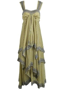 Love Love LOVE this Dress! Love the Draping! Gorgeous and Figue Flattering Draped Yellow Floral Print Bow Chiffon Beach Maxi Dress
