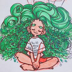 I'M SLEEPY BUT NOT AT ALL, ALSO THIS WAS GONNA BE RAPUNZEL AT ONE POINT BUUUTT THAT DIDN'T HAPPEN L O L #draw #drawing #drawings #sketch #sketches #sketching #sketchbook #art #illust #illustration #oc #ocs #owncharacter #character #design #cartoon #plant #green