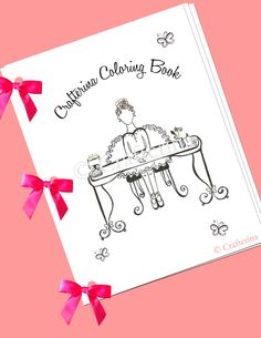 Ballerina Printable Coloring & Activity Ribbon Book by Crafterina, $5.00  www.Crafterina.com