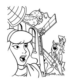 scooby doo monsters coloring pages monster hiding in a building scooby doo coloring pages