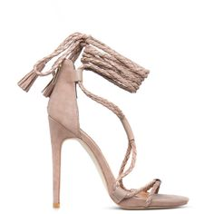 ShoeDazzle Sandals-Dressy - Single Sole Janis Womens Beige ❤ liked on Polyvore featuring shoes, sandals, beige, sandals-dressy - single sole, woven shoes, beige sandals, dressy sandals, laced up shoes and fancy sandals