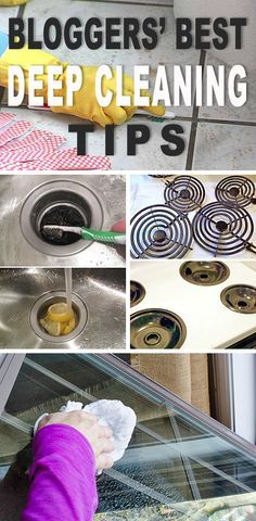 Browse this post and get great tips on cleaning grout, best way to clean windows, clean a dishwasher, deep clean your fridge, deep clean your sink and disposal and much more! Bathroom Cleaning Hacks, Diy Cleaning Products, Cleaning Solutions, Bathroom Organization, Bathroom Storage, Cleaning Mold, Cleaning Recipes, Organization Ideas, Storage Ideas