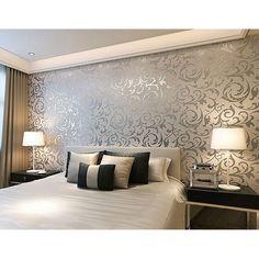 Vliestapete 3D Optik Vlies Wand Tapete Barock Rolle Wandtapete Dekoration Silber | Heimwerker, Farben, Tapeten & Zubehör, Tapeten & Zubehör | eBay!