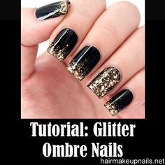 Glitter Ombré Tutorial—Quick Nails!