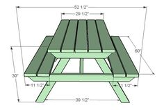 Ana White | How to Build an Adult Picnic Table - DIY Projects