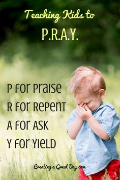 Prayer over our children & teaching them how to pray is priceless! #prayer #kids