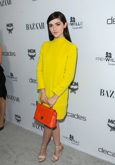 Pin for Later: 20 Stars 21 and Under Who Influence Fashion in a Big Way Isabelle Fuhrman, 17 The Hunger Games actress Isabelle Fuhrman sports neon colorblock like a total pro. Her look is supercharged, but Isabelle remains totally cool.