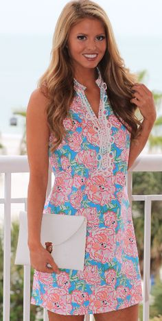 Southern Night Dress in Pink