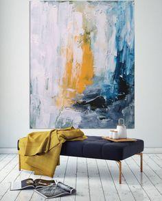 Original gran pintura abstracta pintura acrílica sobre