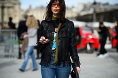 On the Streets of Paris Fashion Week Fall 2015 - Paris Fashion Week Fall 2015 Street Style Day 4