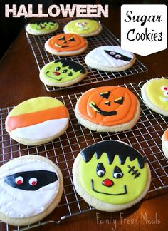 Halloween Sugar Cookies  EVERYONE will love these super soft sugar cookies!