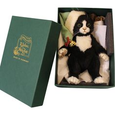John Wright Jingles Christmas Cat Mint in Box Number 80 Limited 250 Pieces Christmas Cats, Felt Art, Vintage Dolls, Doll Toys, Art Dolls, Teddy Bear, Mint, Number, Ruby Lane