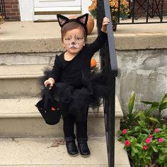 25 simple do it yourself halloween costume ideas toddler cat the only complete kitty costume on etsy trick or treat black kitty tutu outfit your child will be the cutest kitty in the neighborhood solutioingenieria Gallery