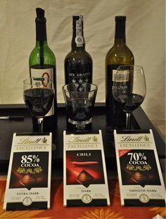 Chocolate and Wine Pairing: Two of my favorite things, dark chocolate and red wine!