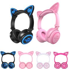 """HOT PRICES FROM ALI - Buy """"Mindkoo Cat Ear Bluetooth Headphones LED Wireless Stereo Flashing Glowing Headset Gaming Earphones Christmas gift for Adult kid"""" from category """"Consumer Electronics"""" for only USD. Wireless Cat Ear Headphones, Gaming Earphones, Sports Headphones, Iphone Headset, Christmas Gifts For Adults, Gamer Girls, Free Shipping, Ear Phones, Shopping"""