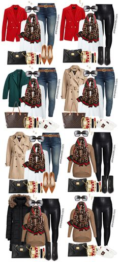 Plus Size Gucci Scarf Outfit Ideas - Jeans, Gucci Belt, Red Blazer, White T-Shirt - Alexa Webb - Plus Size Fashion for Women - Scarf Plus Size Gucci Scarf Outfits - Part 1 - Alexa Webb Blazer With Jeans, Red Blazer, Casual Fall Outfits, Winter Outfits, Trendy Outfits, Girly Outfits, Cute Outfits, Black Parka Jacket, Leather Leggings Outfit