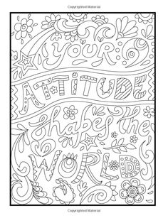 positive coloring pages - Positive Words Coloring Sheets Coloring Pages Quote Coloring Pages, Coloring Pages Inspirational, Printable Adult Coloring Pages, Free Coloring Pages, Coloring Books, Inspirational Quotes, Motivational Sayings, Doodle Coloring, Coloring Sheets