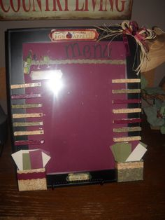 Menu Board by BeautyandtheBlocks on Etsy, $25.00