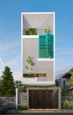 New House Facade Modern Exterior Design Ideas Design Exterior, Facade Design, Modern Exterior, Narrow House Designs, Modern House Design, Small House Design, Modern Shop, Plan Hotel, Townhouse Designs