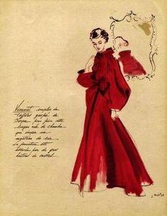 1938 evening dress by Madeleine Vionnet Madeleine Vionnet, 1930s Fashion, Edwardian Fashion, Vintage Fashion, Vintage Dresses, Vintage Outfits, Vintage Ads, Vintage Clothing, Mode Vintage Illustration