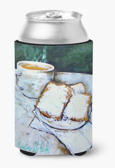 Food Beignet Time Can or Bottle Beverage Insulator Hugger