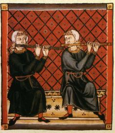 The Cantigas de Santa Maria #240 - transverse flutes