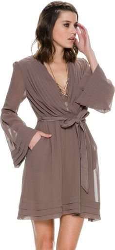 Swell Sonoma 2 Bell Sleeve Wrap Dress