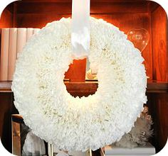 How to make a Ruffled Coffee Filter Wreath #diy #crafts
