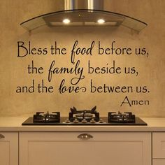 Bless The Food Before Us Wall Decal More