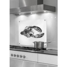 Mach' etwas Besonderes aus Deiner Küche mit der Glas-Rückwand von Cognosco. Der Hummer wird im UV-Direktdruckverfahren von hinten auf Einscheibensicherheits-Glas gedruckt. Die Küchenpaneele kannst Du mit Silikonkleber ganz leicht an der Wand anbringen (Kleber wird kostenfrei mitgeliefert).Optionale Montagemöglichkeit mit 4 Punkthaltern (Aufpreis  30 Euro) - die Glasplatten haben an den 4 Ecken je ein Bohrloch für die Fixierung der Glasplatte mit der Wand.Material: Einscheibensicherheits-Glas…