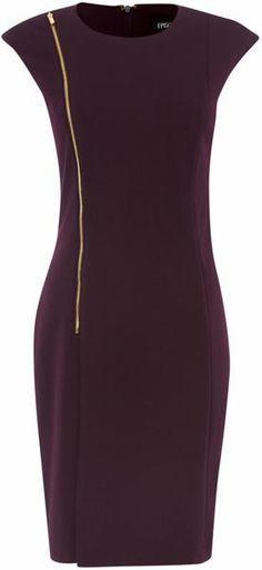 Ponte Faux Wrap Zip Dress - Lyst