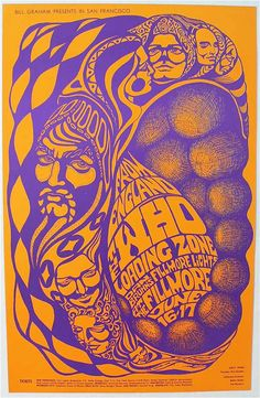 The Who - Loading Zone - BG-68 First Printing Fillmore Poster - Recordmecca