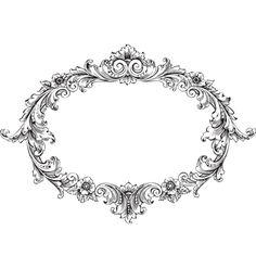 Victorian+frame+vector+1440052+-+by+HypnoCreative on VectorStock®