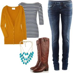 Great outfit for fall! Love the boots