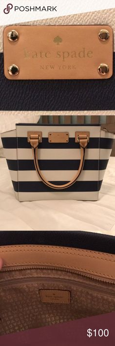 Kate spade crossbody navy & white - brand new This is NAVY & white striped. In perfect condition - never used. I don't have the tags anymore but it is really nice as I've kept it stored properly. Would be cute for spring time / summer time. kate spade Bags Crossbody Bags