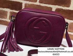 25af6588cd3b Gucci Soho Leather Disco Small Bag 308364 Purple