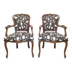 Contemporary Louis Chairs - A Pair