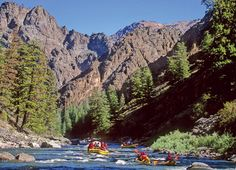 Rafting in Idaho. A fun way to see the country.