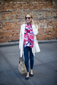 Outfit Idea: Dressing up a white t-shirt and jeans via @katiesbliss
