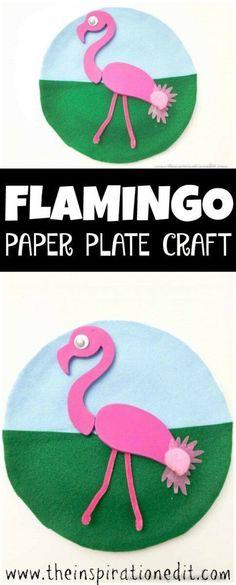 flamingo paper plate craft . #crafts #kidsart #paperplate #springcrafts #fortoddlers #emergentreaders #EFYS #teaching #Flamingo #kidsart #kidsactivities #easycrafts #science #lifecycle #finemotorskills #flamingocrafts #flamingoparty #paperplatecraft
