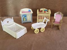 Fisher Price Loving Family lot Nursery furniture Dollhouse Doll bed baby bedroom #FisherPrice