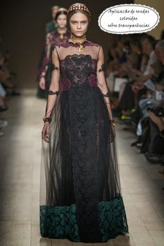 Paris Fashion Week: Valentino ~ hair taping! Such an easy thing to do as one essentially just sews over braids with a ribbon, and it holds quite well.